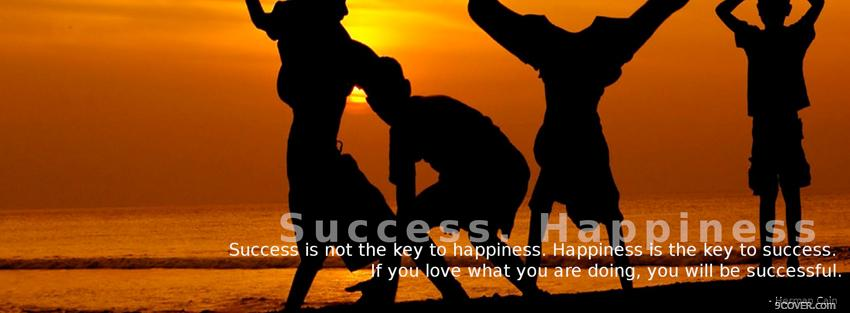 Photo success happiness quote Facebook Cover for Free