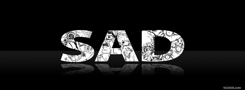 Photo black and white sad Facebook Cover for Free