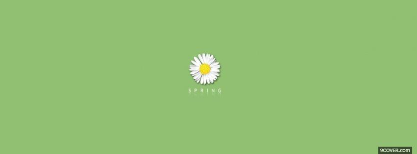 Photo green spring quotes Facebook Cover for Free