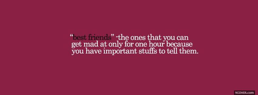 Photo best friends quotes Facebook Cover for Free