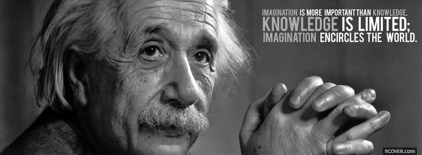 Photo knowledge is limited quote Facebook Cover for Free