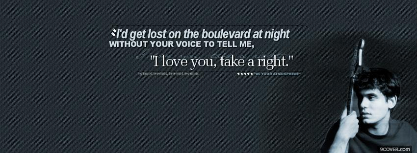 Photo boulevard at night quotes Facebook Cover for Free