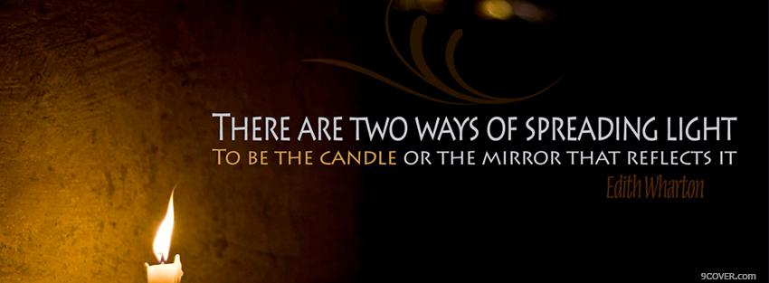 Photo spreading light quote Facebook Cover for Free