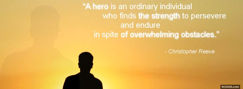 Photo hero quote Facebook Cover for Free