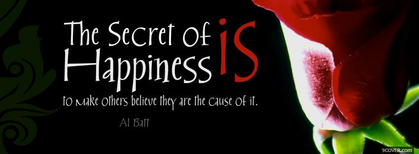 Photo the secret of happiness Facebook Cover for Free