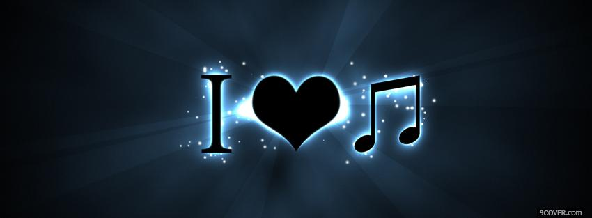 Photo love music quotes Facebook Cover for Free