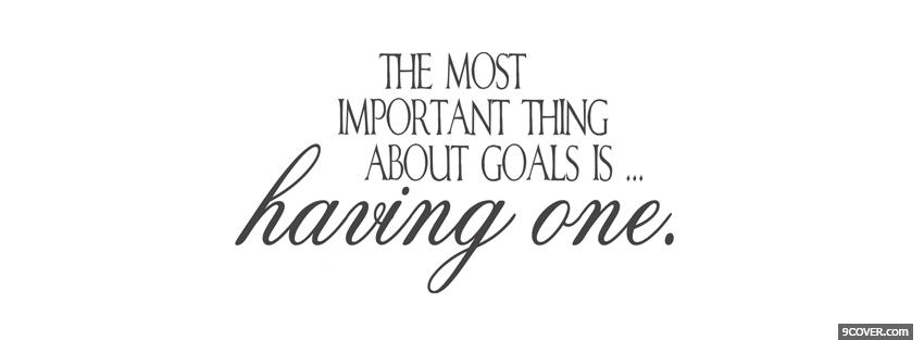Photo having one goal quotes Facebook Cover for Free