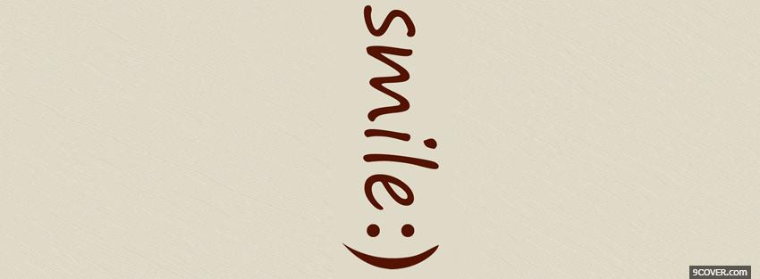 Photo smile quotes Facebook Cover for Free