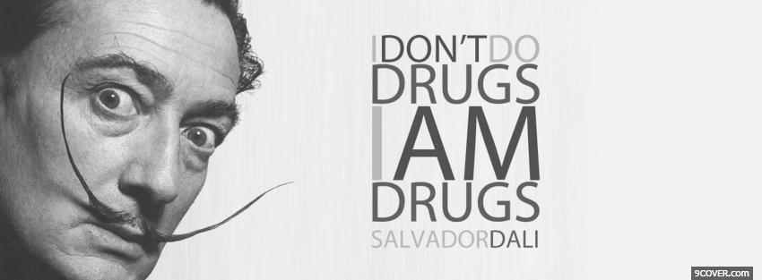 Photo dont do drugs quotes Facebook Cover for Free