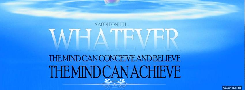 Photo mind can achieve quotes Facebook Cover for Free