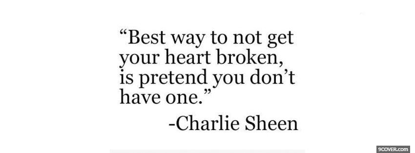 Photo charlie sheen quotes Facebook Cover for Free