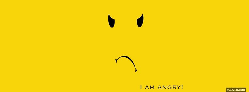 Photo i am angry quotes Facebook Cover for Free