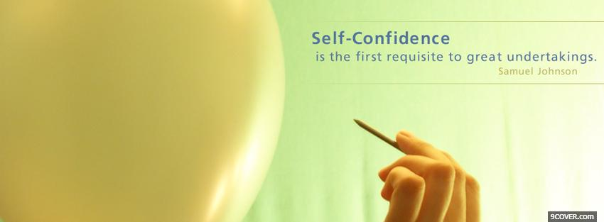 Photo self confidence quotes Facebook Cover for Free