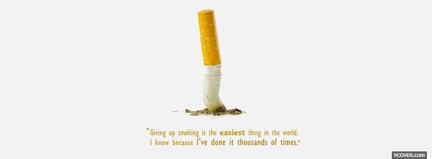 Photo funny smoking quotes Facebook Cover for Free