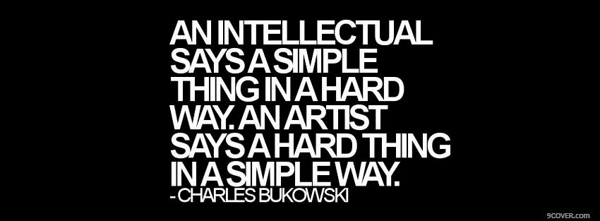 Photo intellectual and artist quotes Facebook Cover for Free