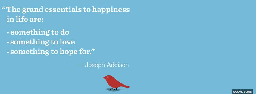 Photo joseph addison quotes Facebook Cover for Free