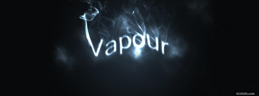 Photo vapour quotes Facebook Cover for Free