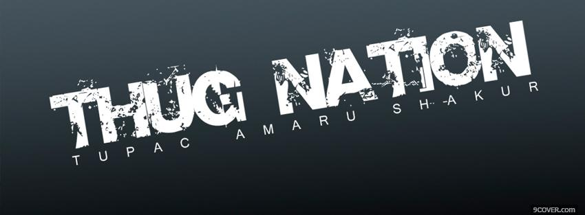 Photo thug nation quotes Facebook Cover for Free