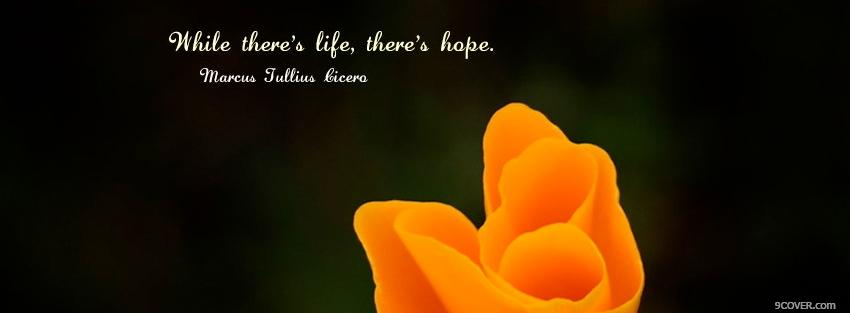 Photo theres hope quotes Facebook Cover for Free