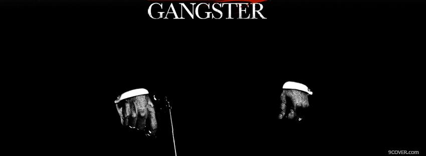 Photo black and white gangster Facebook Cover for Free