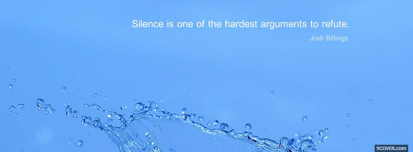 Photo hardest arguments quotes Facebook Cover for Free