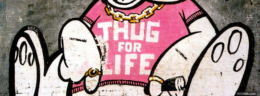 Photo thug for life quotes Facebook Cover for Free