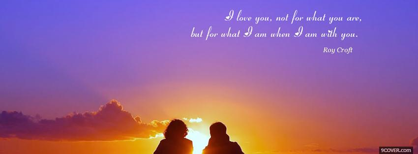Photo love you quotes Facebook Cover for Free