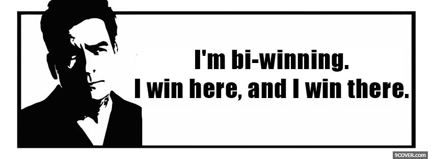 Photo bi winning quotes Facebook Cover for Free