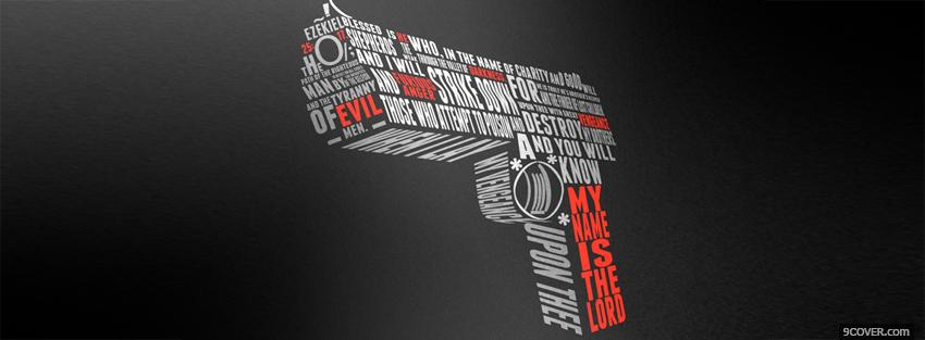 Photo pulp gun quotes Facebook Cover for Free