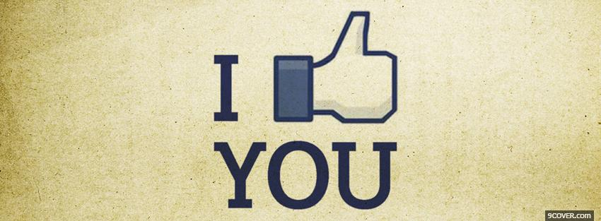 Photo i like you quotes Facebook Cover for Free