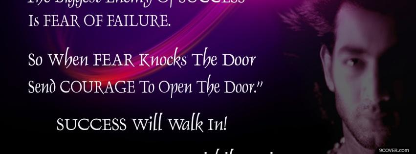 Courage Open Door Quotes Photo Facebook Cover Classy Open Door Quotes