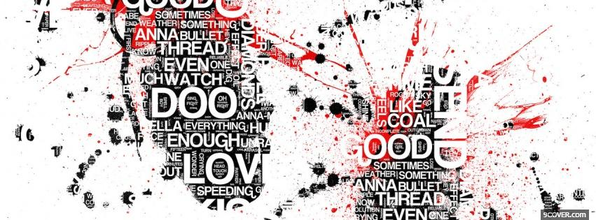 Photo lots of words quotes Facebook Cover for Free