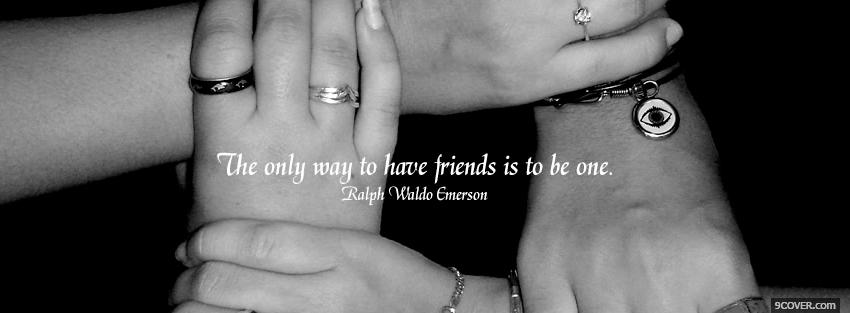 Photo be a friend quotes Facebook Cover for Free