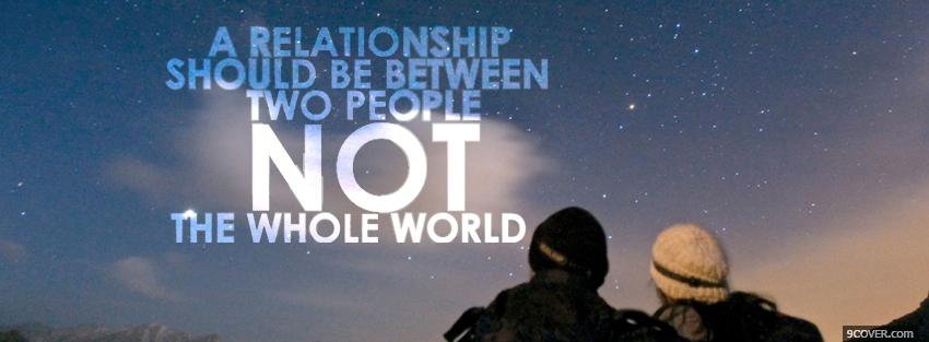 Photo between two people quotes Facebook Cover for Free