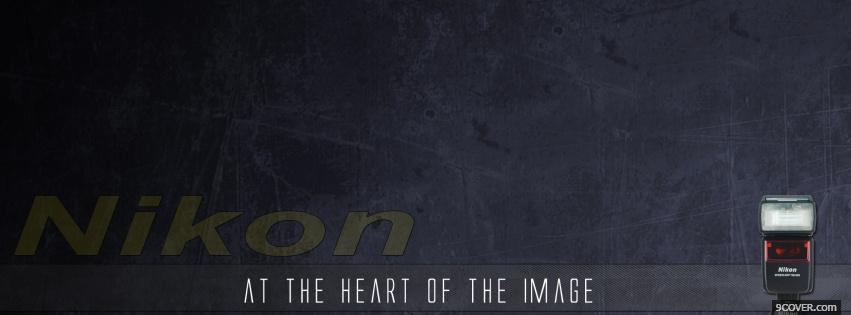 Photo heart of the image quotes Facebook Cover for Free