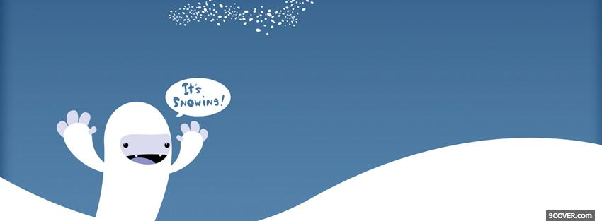 Photo its snowing quotes Facebook Cover for Free