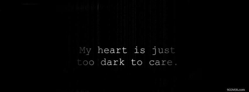 Photo to dark quotes Facebook Cover for Free
