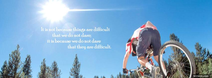 Photo we do not dare quote Facebook Cover for Free