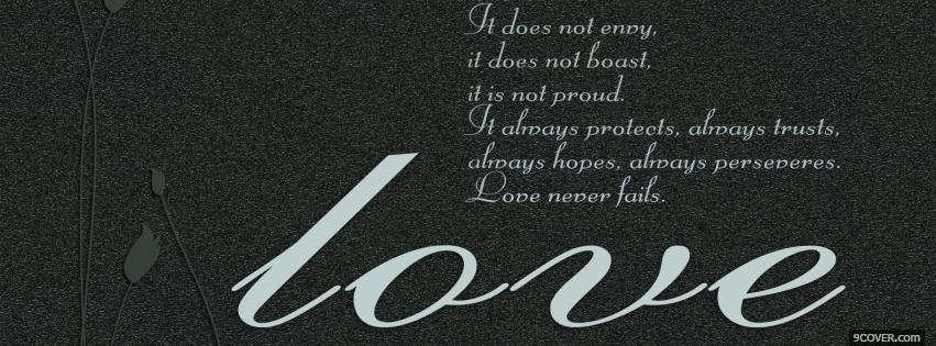Photo love protects quotes Facebook Cover for Free