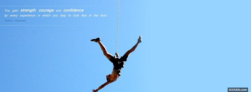 Photo strength courage confidence Facebook Cover for Free