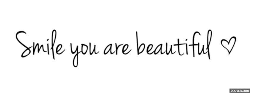 You Are Beautiful Quotes Extraordinary You Are Beautiful Quotes Photo Facebook Cover