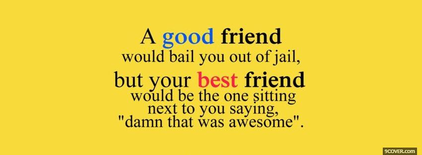 Photo best friend quotes Facebook Cover for Free