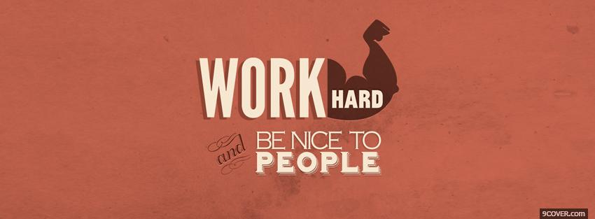 Photo work hard quotes Facebook Cover for Free