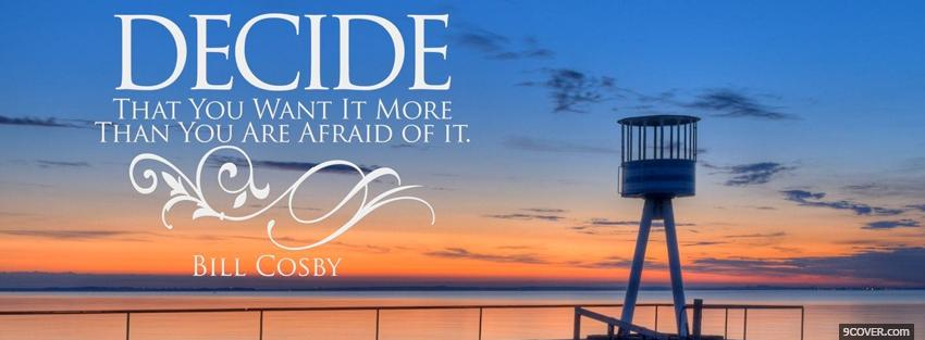 Photo bill cosby quote Facebook Cover for Free