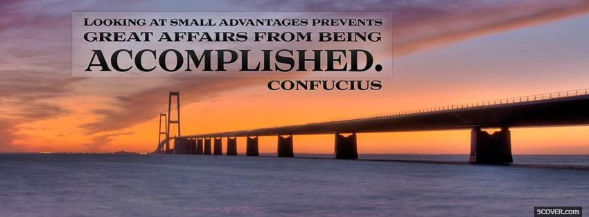 Photo affairs being accomplished quote Facebook Cover for Free