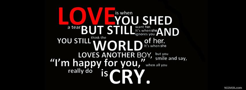 Photo love definition quotes Facebook Cover for Free