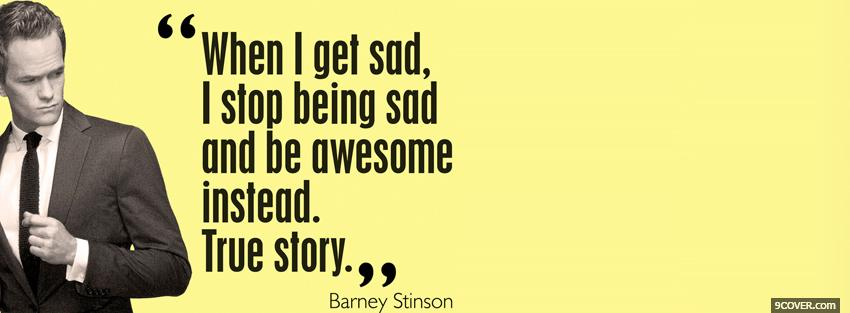 Photo barney stinson quotes Facebook Cover for Free