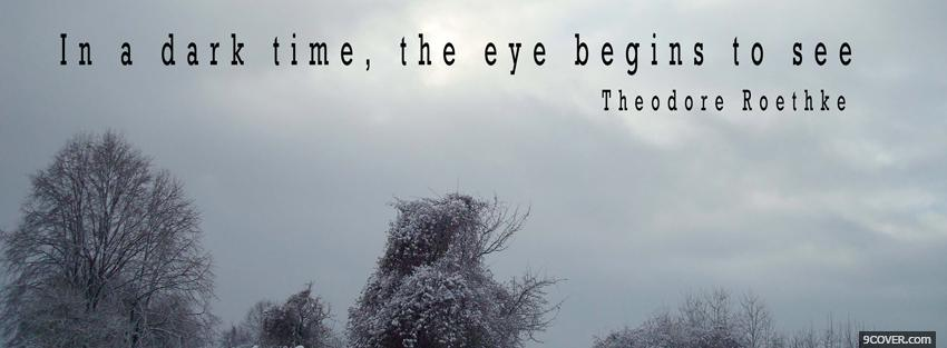 Photo in a dark time quotes Facebook Cover for Free