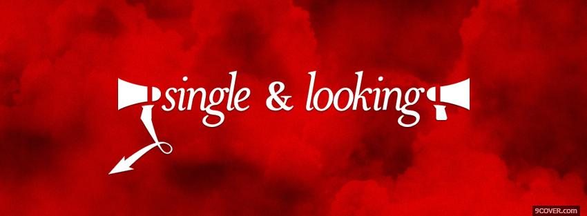 Photo red single looking quotes Facebook Cover for Free