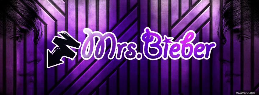 Photo purple mrs bieber quotes Facebook Cover for Free